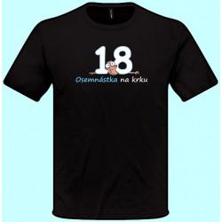 Tričká s potlačou - Osemnástka na krku (pánske tričko)