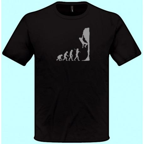 Tričká s potlačou - Horolezec evolúcia (pánske tričko)