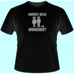 Tričká s potlačou - Under new management (dámske tričko)