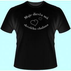 Tričká s potlačou - Moje dievča má skvelého chalana (dámske tričko)