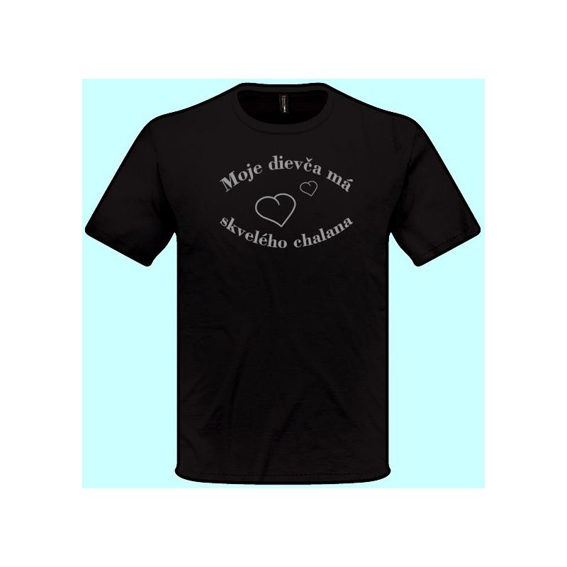 3430ecd4c2e ... Tričká s potlačou - Moje dievča má skvelého chalana (pánske tričko)