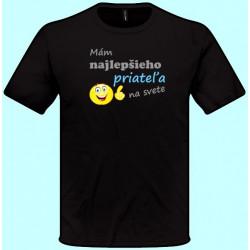 Tričko s potlačou - Mám najlepšieho priateľa na svete (pánske tričko)