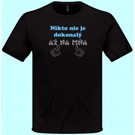 Tričká s potlačou - Nikto nie je dokonalý až na mňa (pánske tričko)