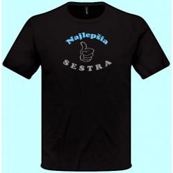 Tričká s potlačou - Najlepšia sestra (pánske tričko)