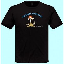 Tričká s potlačou - Najlepší elektrikár (pánske tričko)