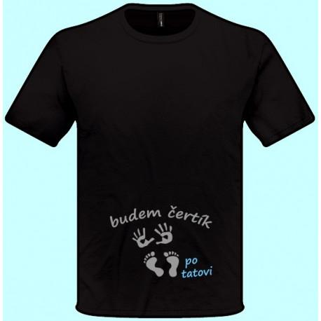 Tričká s potlačou - Budem čertík po tatovi (pánske tričko)