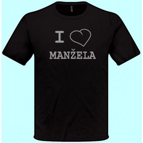 Tričká s potlačou - I love Manžela (pánske tričko)