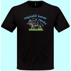 Tričká s potlačou - Najväčší kanec v revíri (pánske tričko)