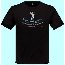 Tričká s potlačou - Týmto tričkom maskujem svoju neuveriteľne vypracovanú a príťažlivú postavu (pánske tričko)
