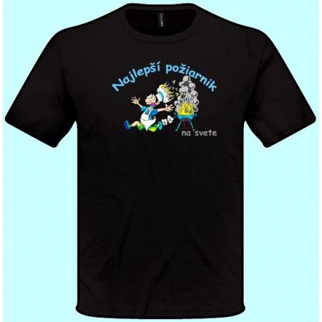 Tričká s potlačou - Najlepší požiarnik (pánske tričko)