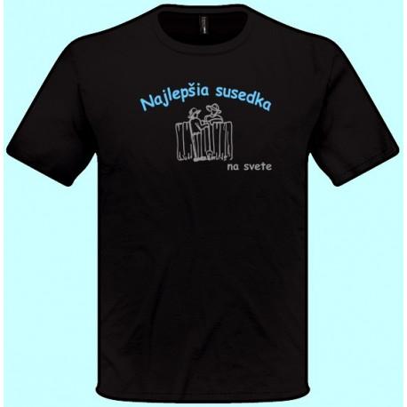 Tričká s potlačou - Najlepšia susedka (pánske tričko)