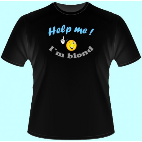 Tričká s potlačou - Help me Im blond (dámske tričko)
