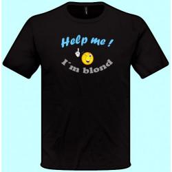 Tričká s potlačou - Help me Im blond (pánske tričko)