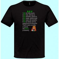 Tričká s potlačou - Šéf má vždy pravdu (pánske tričko)