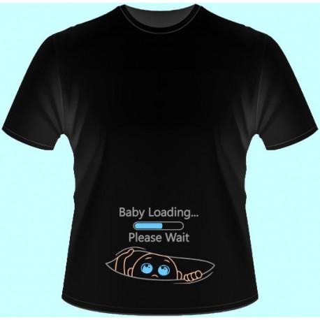 Tričká s potlačou - Baby Loading (dámske tričko)