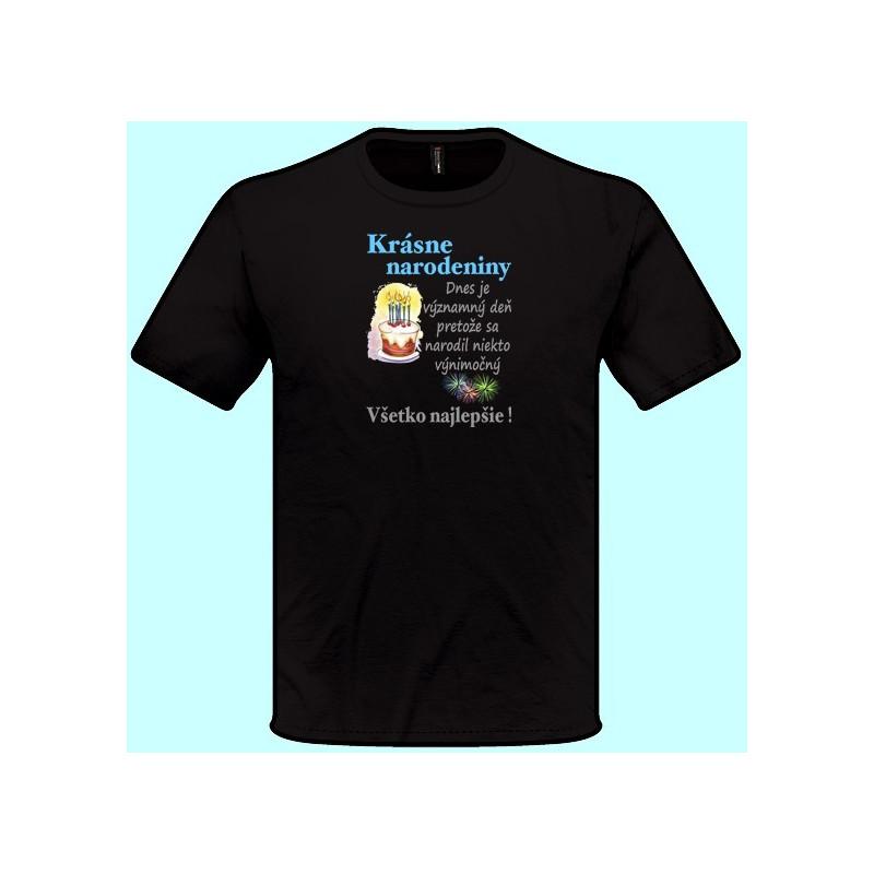 55a7d79a6763 Tričká s potlačou - Krásne narodeniny (pánske tričko) - Emerikano.sk