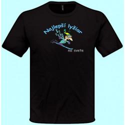 Tričká s potlačou - Najlepší lyžiar (pánske tričko)