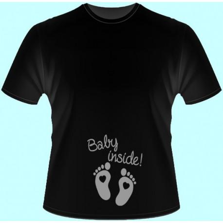 Tričká s potlačou - Baby inside (dámske tričko)