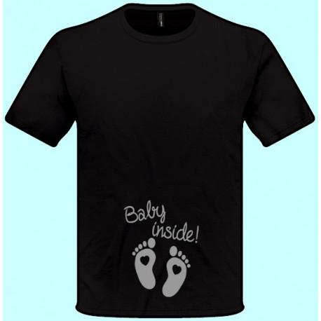 Tričká s potlačou - Baby inside (pánske tričko)