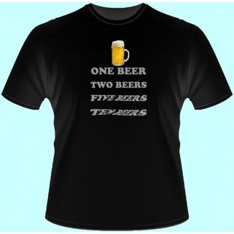 Tričká s potlačou - One beer Ten beer (dámske tričko)