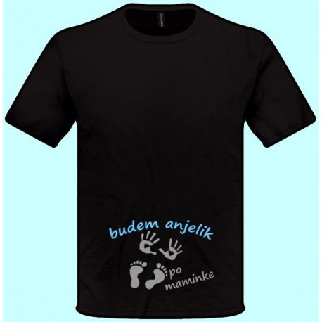 66daf8ebb69b Znížená cena Tričká s potlačou - Budem anjelik po maminke (pánske tričko)
