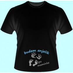 Tričká s potlačou - Budem anjelik po maminke (dámske tričko)