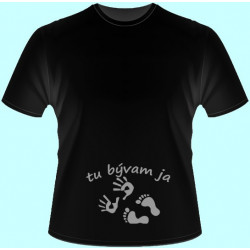 Tričká s potlačou - Tu bývam ja (dámske tričko)