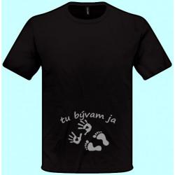 Tričká s potlačou - Tu bývam ja (pánske tričko)