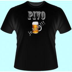Tričká s potlačou - Pivo je liek !!! (dámske tričko)