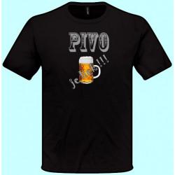 Tričká s potlačou - Pivo je liek !!! (pánske tričko)