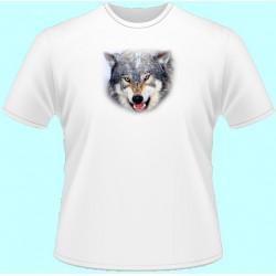 Tričká s potlačou zvierat - Vlk (dámske tričko)