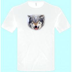 Tričká s potlačou zvierat - Vlk (pánske tričko)