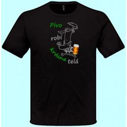 Tričká s potlačou - Pivo robí krásne telá (pánske tričko)