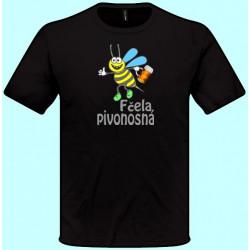 Tričká s potlačou - Fčela pivonosná (pánske tričko)