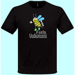 Tričká s potlačou - Fčela vodkonosná (pánske tričko)