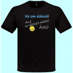 Tričká s potlačou - Nie som dokonalá ale na niektorých miestach áno (pánske tričko)