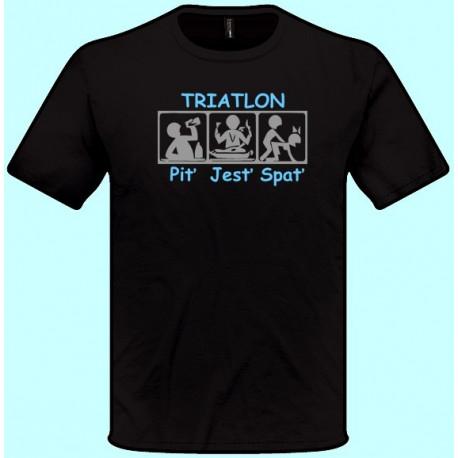 Tričká s potlačou - Triatlon (pánske tričko)