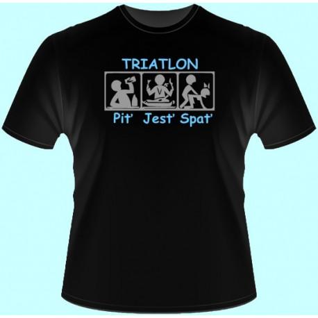 Tričká s potlačou - Triatlon (dámske tričko)
