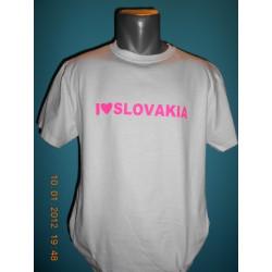 Tričká s nápismi - I love Slovakia