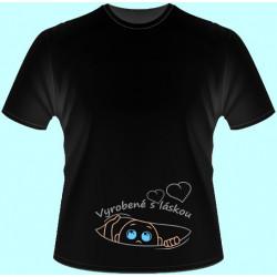 Tričká s potlačou - Vyrobené s láskou (dámske tričko)
