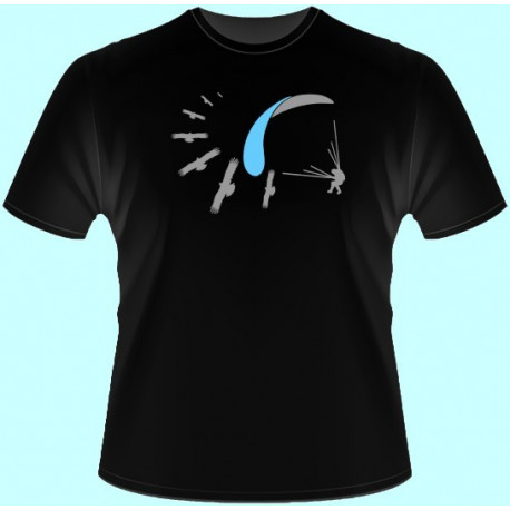 Tričká s potlačou - Lietanie padák evolúcia (dámske tričko)