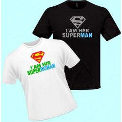 Tričko s potlačou - I am his superwoman (pánske tričko)