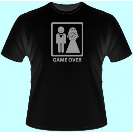 Tričká s potlačou - Game over (dámske tričko)