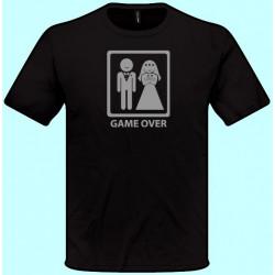 Tričká s potlačou - Game over (pánske tričko)