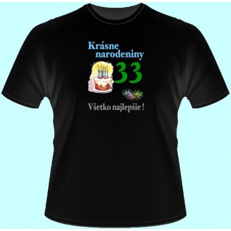 Tričká s potlačou - Krásne narodeniny - Váš vek (dámske tričko)