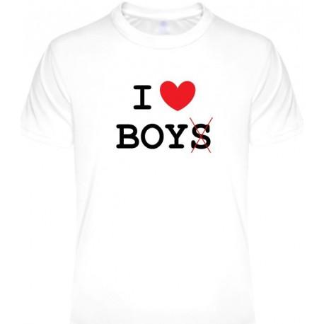 Tričká s nápismi - I love boys