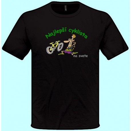Tričká s potlačou - Najlepší cyklista (pánske tričko)