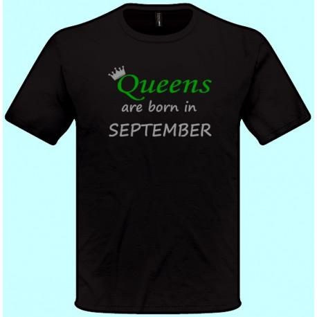 Tričká s potlačou - Queens are born in Váš mesiac (pánske tričko)