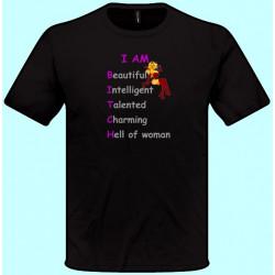 Tričká s potlačou - Iam beautiful... (pánske tričko)