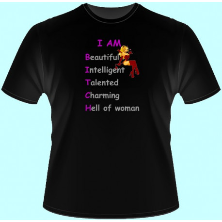 Tričká s potlačou - Iam beautiful... (dámske tričko)